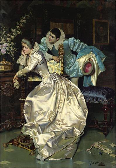 Pio Ricci (1850 - 1919) - A lovers' spat