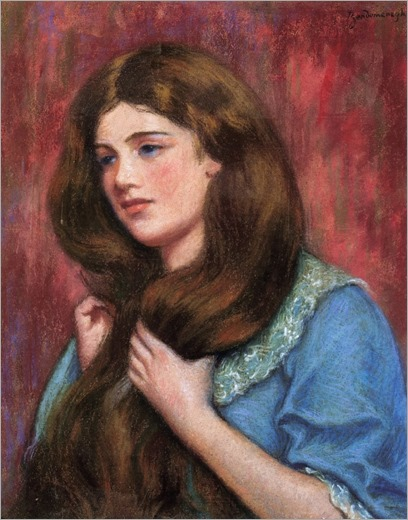 Portrait of a Young Beauty - Federico Zandomeneghi (italian painter)