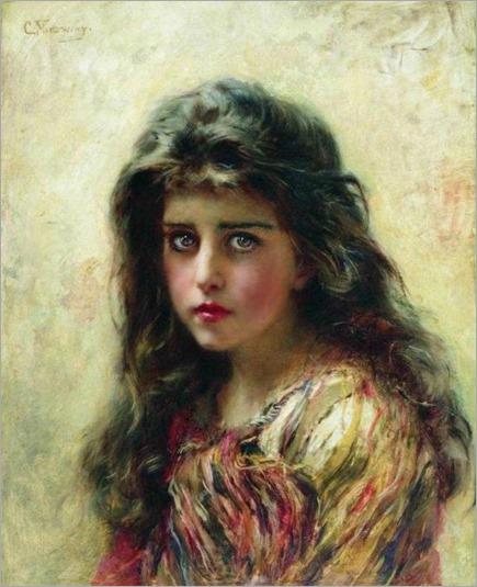 portrait of the girl-Makovsky