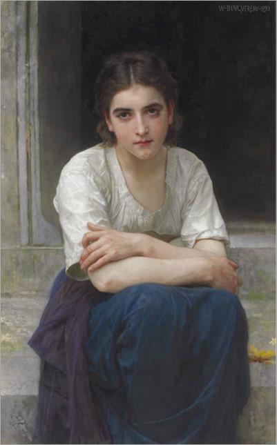 Rêverie sur le seuil (1893)-William-Adolphe Bouguereau
