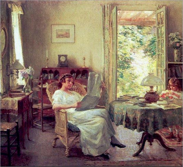 Summer at Hadlyme - Willard Metcalf (american painter)