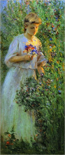 Suzanne in the Garden - 1904 - Otto Stark (american painter)