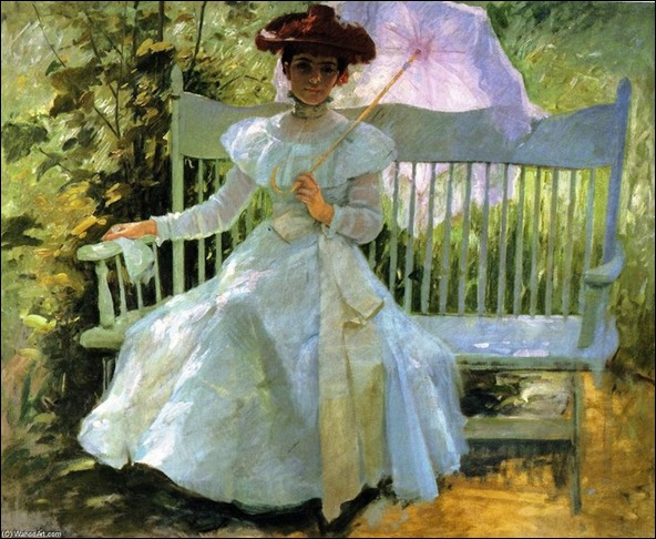That Summer Afternoon in My Garden - Frank Duveneck (american painter)