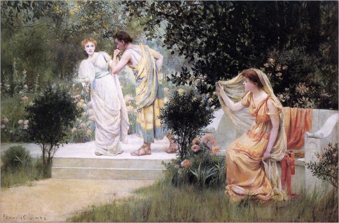 The Forbidden Kiss by Francis Coates Jones (1857-1932)