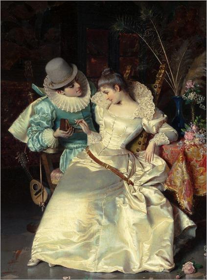the gift-Pio Ricci (italian painter)