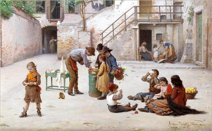 The ice cream vendors - Antonio Paoletti