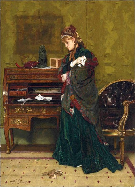 The Letter - Alfred Stevens (belgian painter)