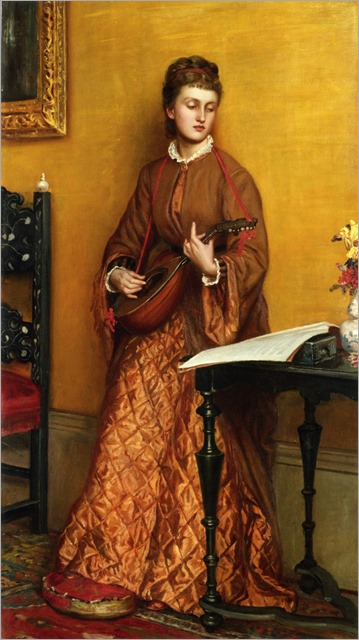 The mandolin player- Valentine Cameron Prinsep