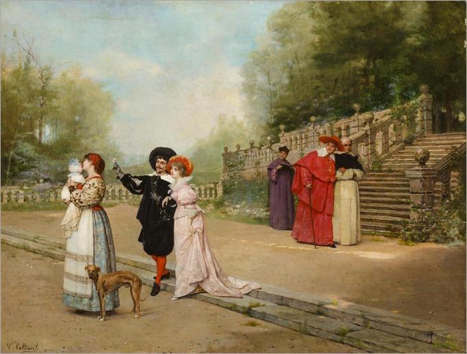 Vicente Palmaroli y Gonzales (1834 - 1896) - The happy family