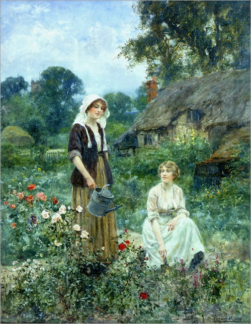 Watering the Roses -  Henry John Yeend King