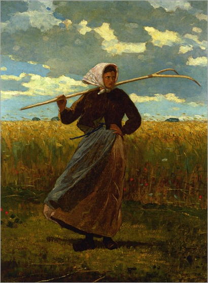 Winslow Homer - The Return of the Gleaner-1867