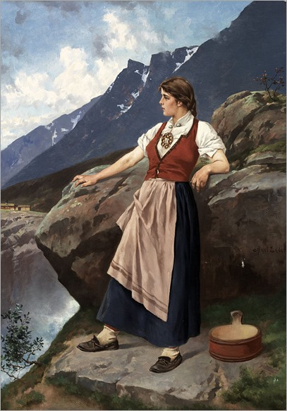 woman at lookout-Axel Hjalmar Ender - Date unknown