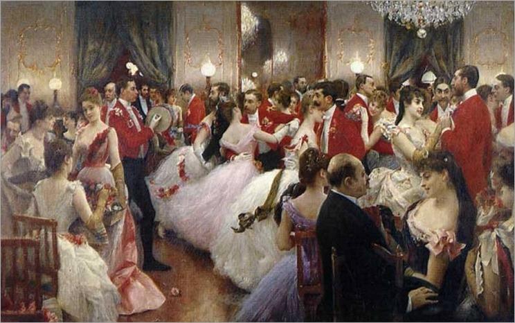 A Hunt Ball -1885- Julius LeBlanc Stewart (american)