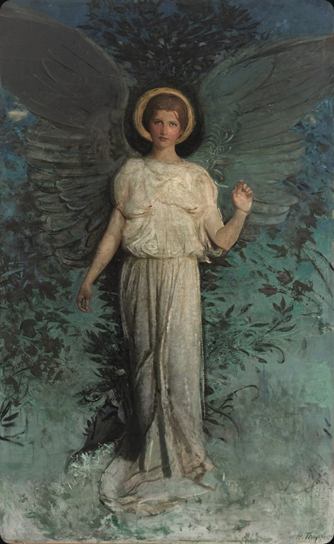 Abbott Handerson Thayer, Winged Figure (The Angel), 1918