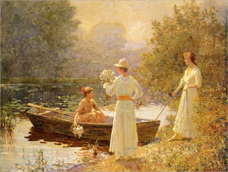 Afternoon at the Pond - Abbott Fuller Graves (american painter)