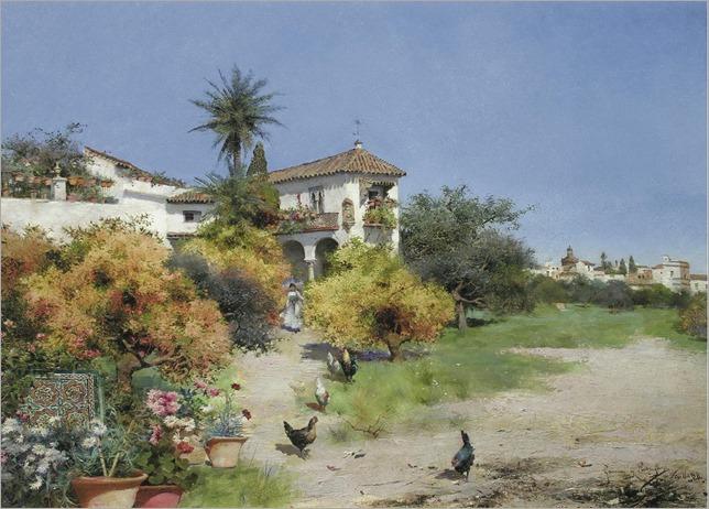 An Afternoon Stroll - Manuel Garcia y Rodriguez (spanish painter)