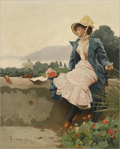 Arnaldo Ferraguti ((Ferrara, 1862 - Forli, 1925)- Wonderful view