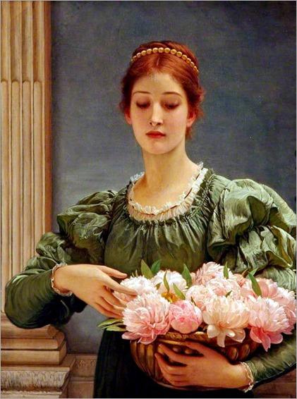 Charles Edward Perugini - Peonies - 1887
