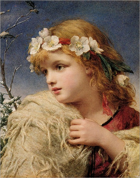 Christmas Rose - William Charles Thomas Dobson (british painter)