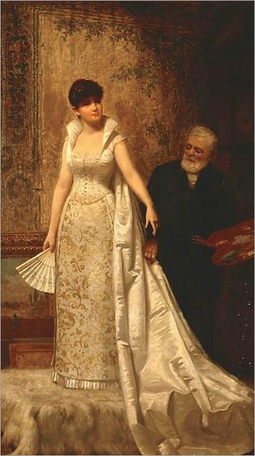De Scott (David) Evans, 1847-1898 Model with the Artist, 1886