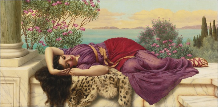 Dolce far niente-John William Godward (british, 1861-1922)