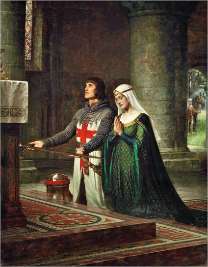 Edmund Blair Leighton - The Dedication 1908