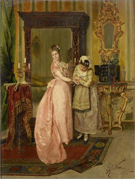 Edoardo Navone (1844-1912) - Before the ball, 1875