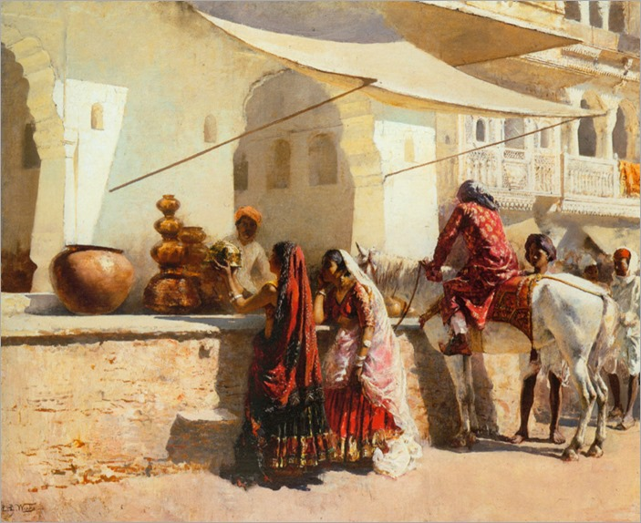 EdwinLordWeeks_a_street_market_scene,_india