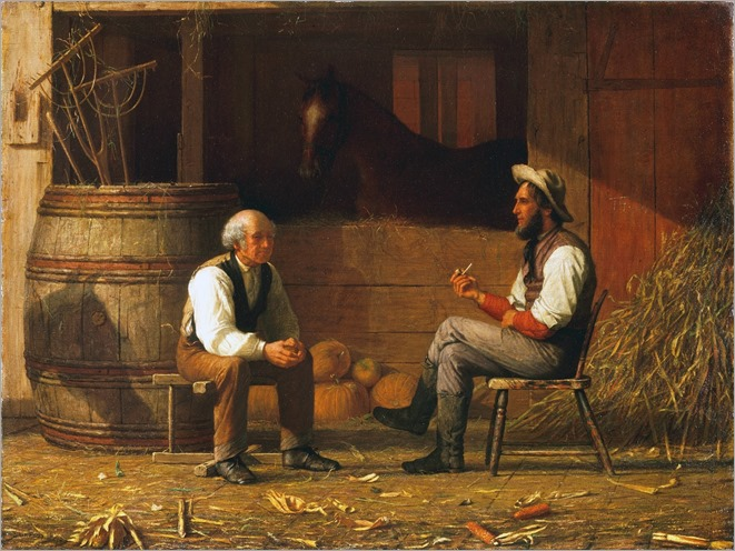 Enoch Wood Perry (american-1831-1915) - Talking it Over 1831