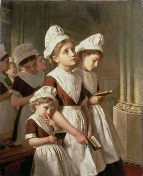 Foundling Girls at Prayer in the Chapel - Sophie Anderson