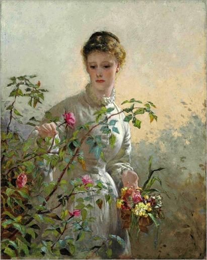 George Elgar Hicks - A Summer Bouquet 1878