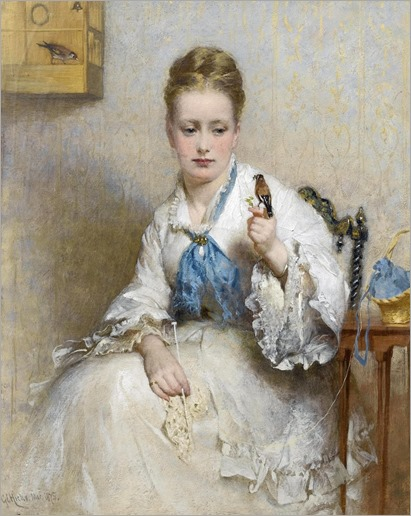 George Elgar Hicks - The Goldfinch 1875