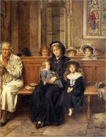 George Goodwin Kilburne - In Church