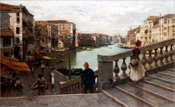 Guglielmo Ciardi-Canal Grande Venezia