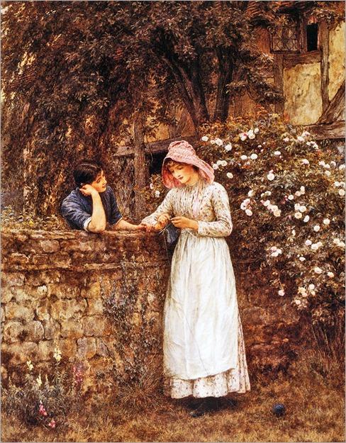 Helen Allingham - Over the Garden Wall