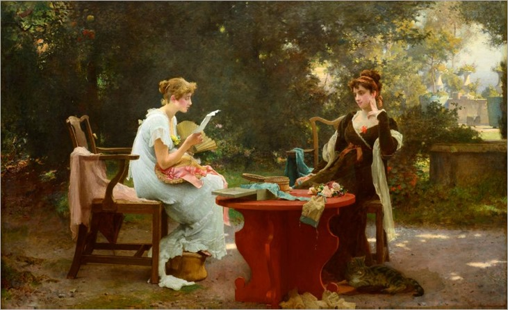 Her First love Letter-1889-Marcus Stone