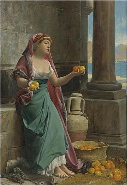 Jean-Jules-Antoine Lecomte du Nouÿ - The Citrus Seller, 1878