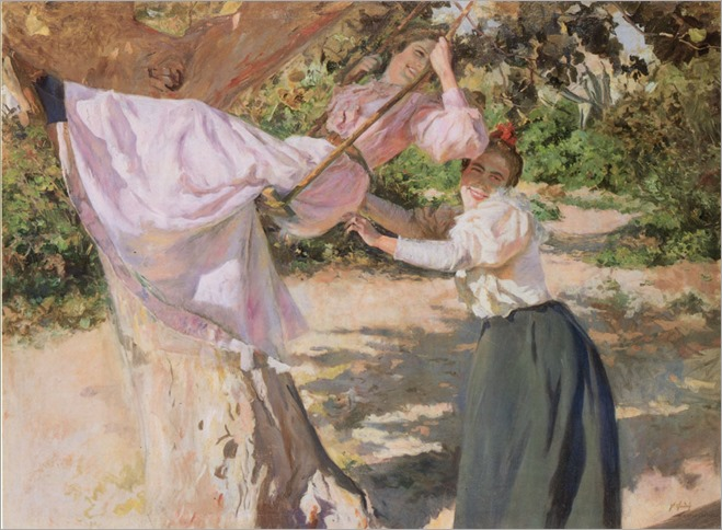 La Balancoire - 1900- Federico Godoy Castro (spanish painter)