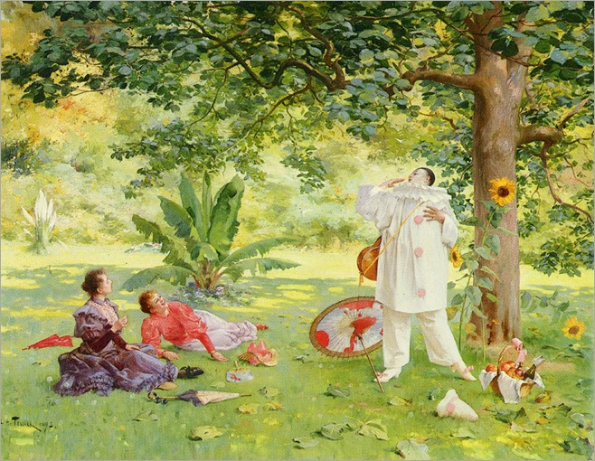 LouisAdolpheTessier_pierrot_entertaining_in_the_garden