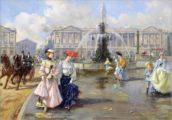 Place de la Concorde - Joaquin Pallares y Allustante-1872