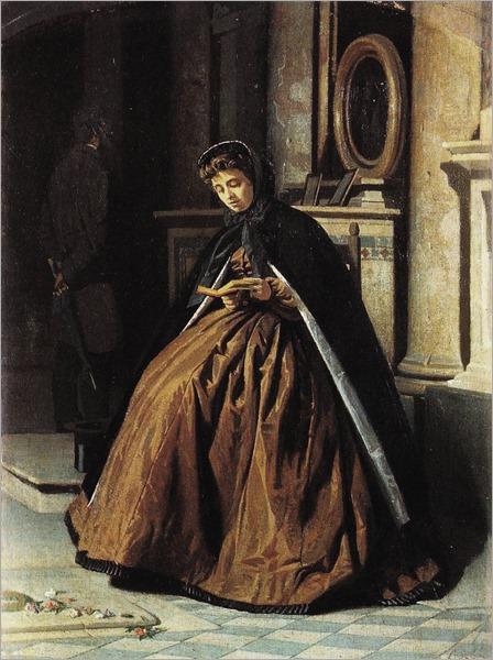 prayer-Giuseppe Abbati - circa 1865