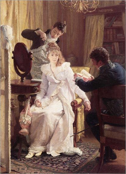 Preparing For the Ball. Franz Xaver Simm (Austrian, 1853-1918)