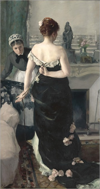 Retour du bal -Alfred Roll-1886