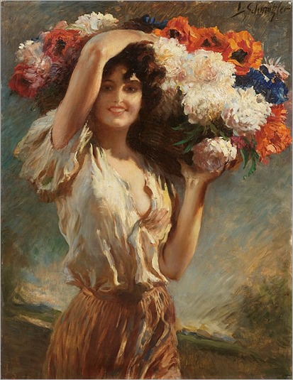 SCHMUTZLER, LEOPOLD(Mies 1864 - 1940 Munich)Flower girl