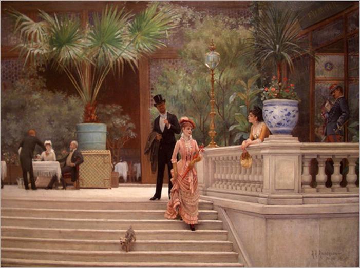 The Boulevard Café by Abraham A. Anderson, 1889