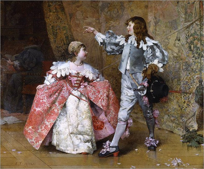 the costume ball - Edouard Toudouze (french painter)