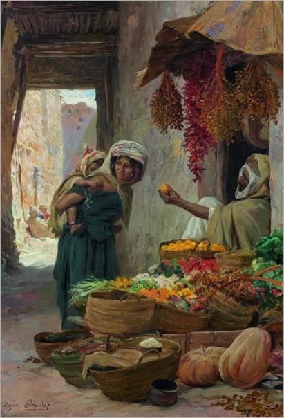 The Fruit Seller - Eugene-Alexis Girardet (french painter)