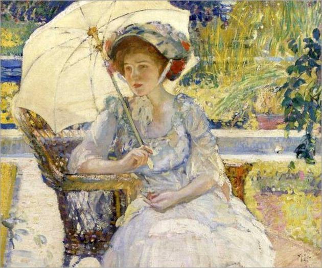 The Garden Seat by Richard Edward Miller