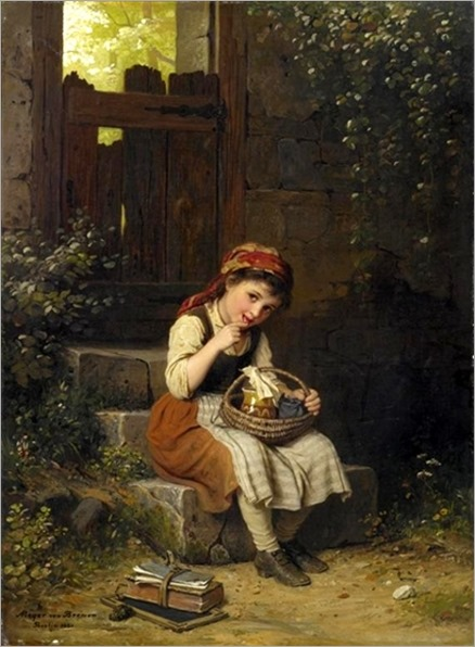 the-honey-eater-Johann Georg Meyer von Bremen (1813 – 1886, German)
