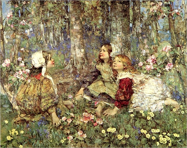 The Music of the Woods - Edward Atkinson Hornel-1906